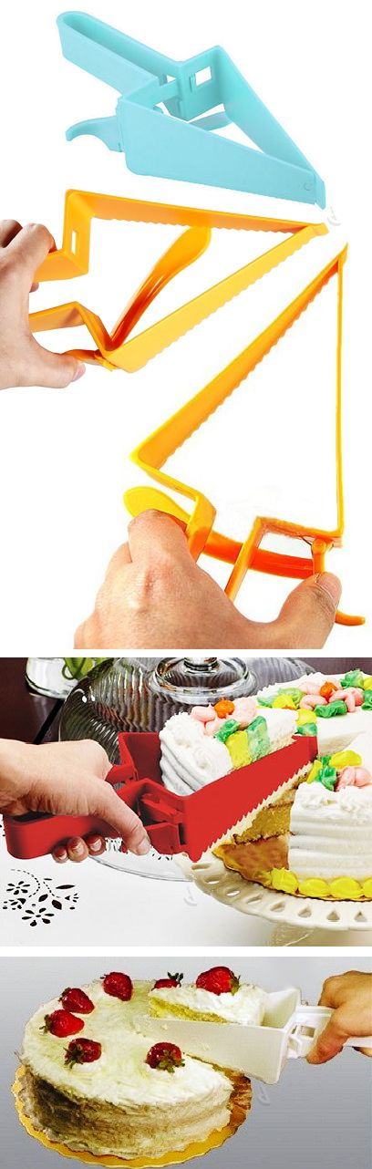 Adjustable 2-in-1 pie & cake cutter and server! Genius invention! #product_design
