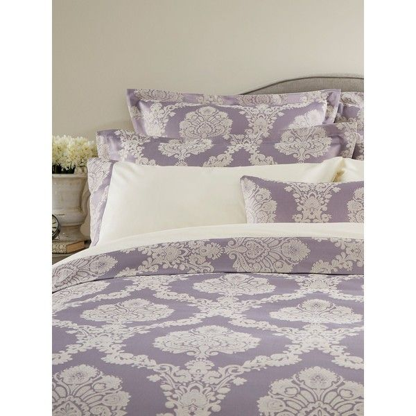 Christy Romeo bedspread ($76) ❤ liked on Polyvore featuring home, bed & bath, bedding, bedspreads, clearance, lilac, lavender bedspread, lavender bedding, jacquard bedspread and jacquard bedding
