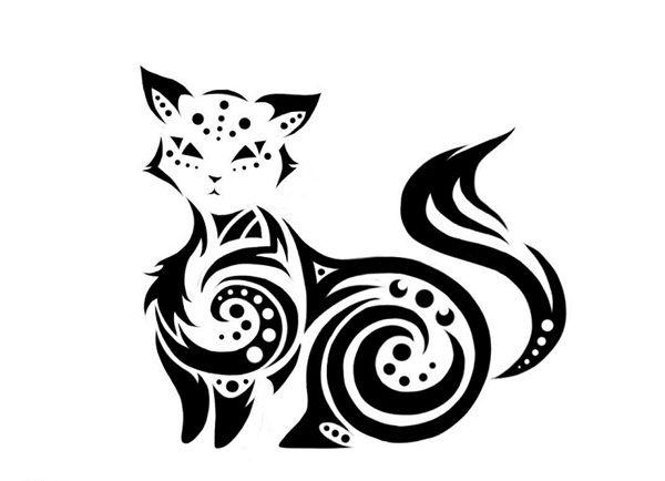 Connect The Dots Cat Tattoo Design-Cat Tattoos Designs