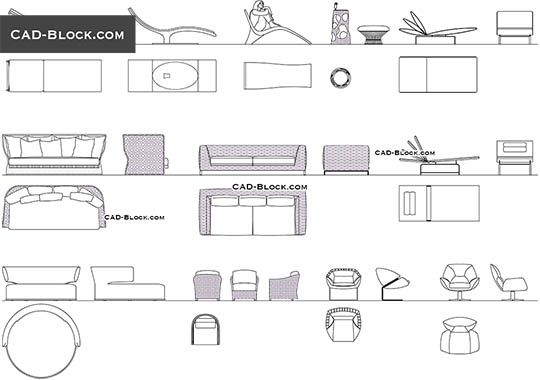 Pin On Loft House, Outdoor Seating Furniture Cad Blocks