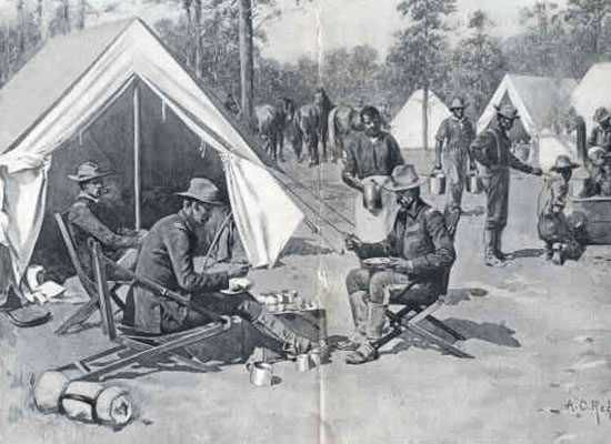 the story of the us calvary during the spanish american war in the movie rough riders Military unit histories, rosters, and photos of the spanish american war unit profiles, rosters, and photos dewey's the 1st us volunteer cavalry, rough riders (including roster), click here actual movie of the first california embarking aboard ship click here.