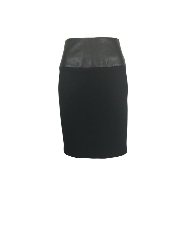 Sleek Black Zip-Up Pencil Skirt by Atelieri