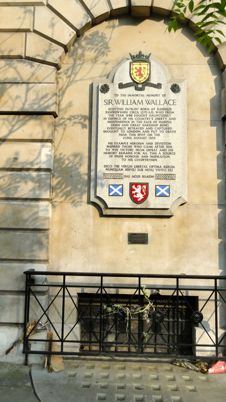 Memorial to Sir William Wallace, Smithfield, London, England