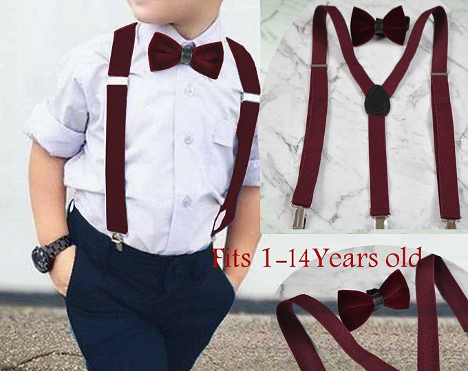 5 pcs Maroon Red Formal boys wedding church party suit 1-14 years
