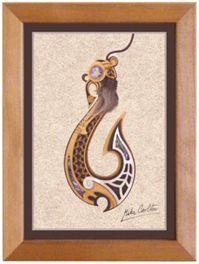 Large Framed Maori Artwork - Te Matau a Maui