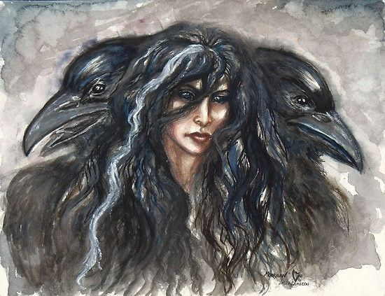 Badb was a Celtic and Irish war and crow goddess who was also seen as a supernatural woman and demon. She was also the goddess of enlightenment, inspiration, life and wisdom. In the mythology of Ireland her name means 'crow' in Old Irish.
