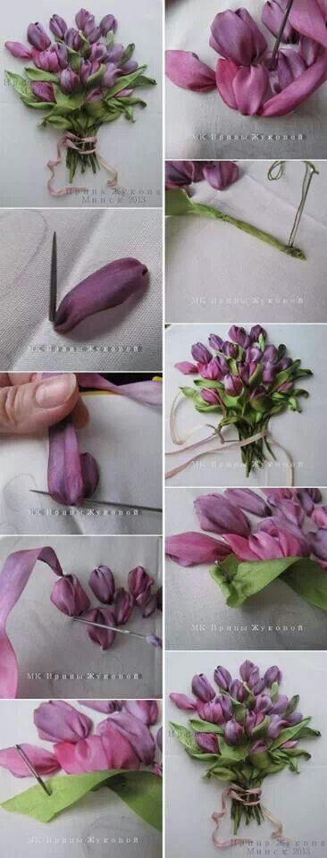 Ribbon flowerskurdela nakisi