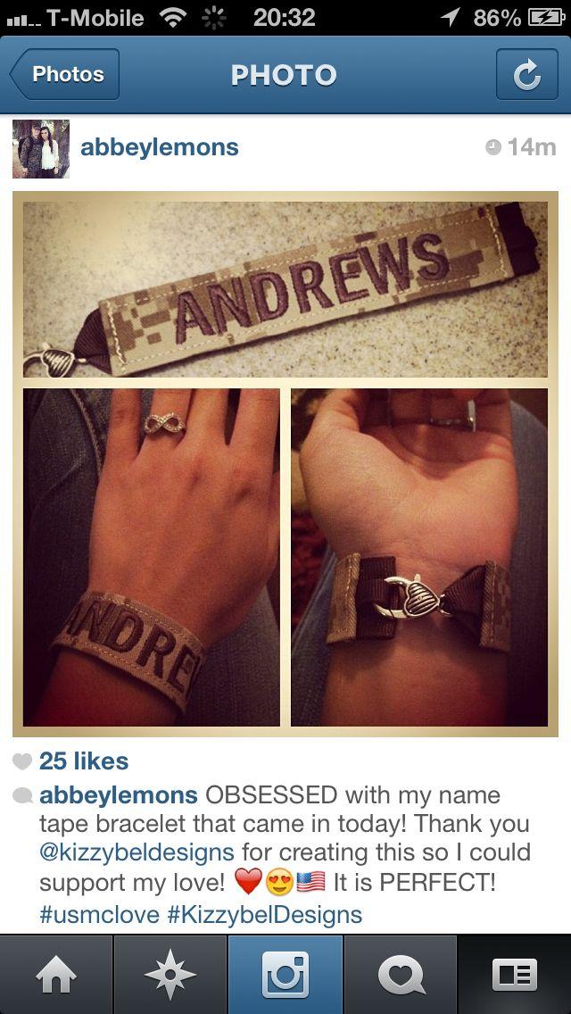 Name Tape Bracelet/key chain @Veronica Peraza