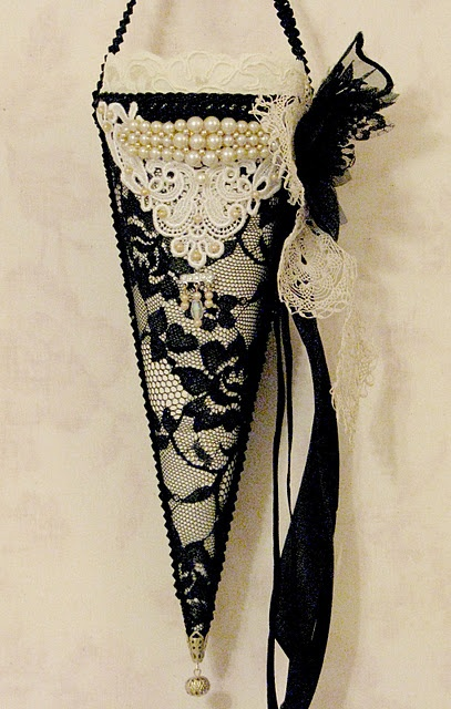 lace covered cone