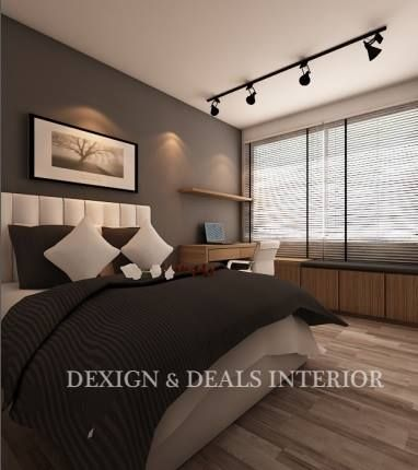 Bench blinds track lights master bedroom - Track lighting ideas for bedroom ...