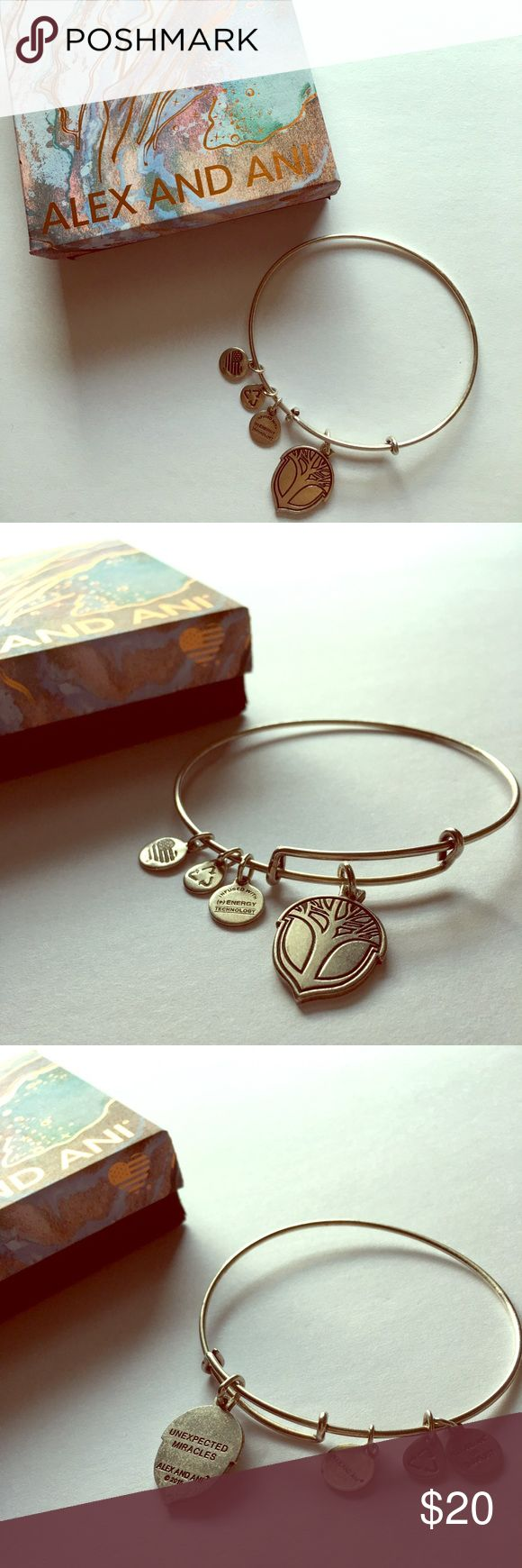 """Alex and Ani Bracelet The """"Unexpected Miracles"""" Acorn bracelet by Alex and Ani. Super cute! Excellent Used condition. Has been stored with similar bracelets to keep from tarnishing. Comes with original box for safe keeping. Alex & Ani Jewelry Bracelets"""