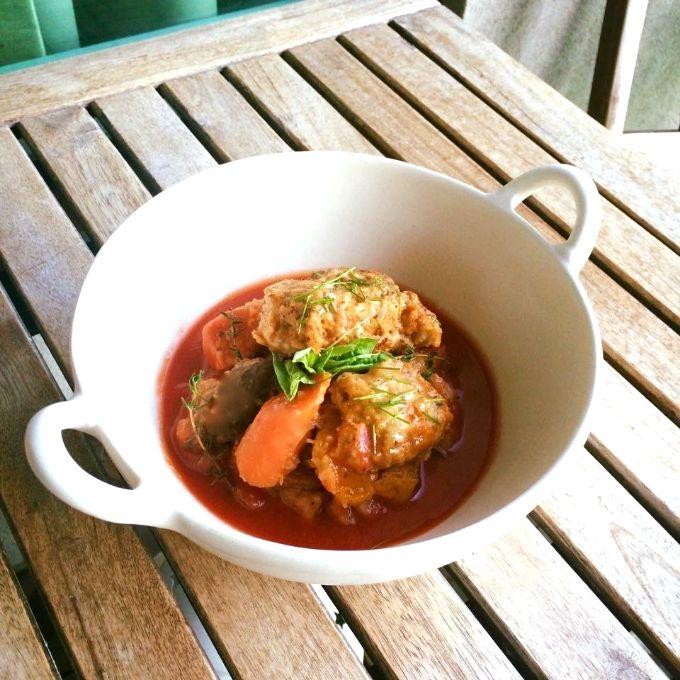 Winter Vegetable Stew with Old Bay & Herb Dumplings