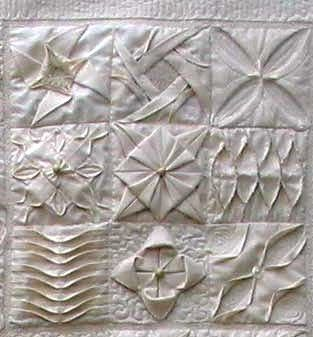 207 best origami quilts images on Pinterest   Crafts, Cushions and ... : folded quilt blocks - Adamdwight.com