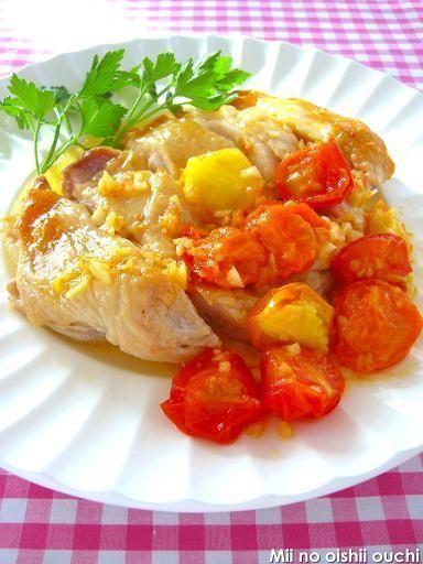 グリルチキン de カラフルトマトソース♪ & 家飲みで寒ぶり祭りだぁー ...