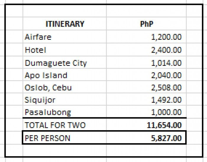 3 destinations (Dumaguete, Oslob and Siquijor) for only PHP 5,827 (all-In)? Find out how this couple did it!