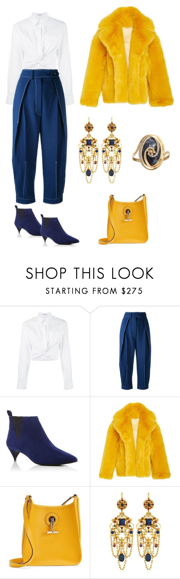 """Smart & Sassy"" by karen-galves ❤ liked on Polyvore featuring T By Alexander Wang, Sportmax, Pierre Hardy, Hermès, Jose & Maria Barrera and Lalaounis"