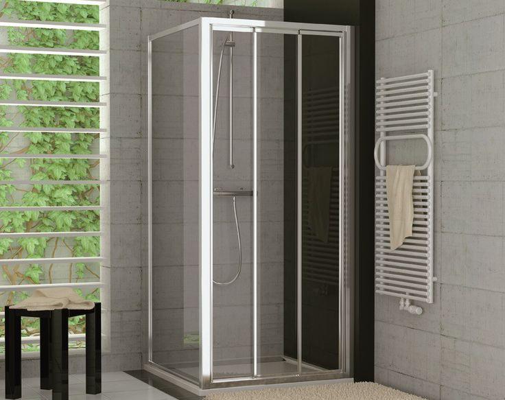 Glaswand Dusche Ma?anfertigung : Dusche Schiebet?r 3-teilig Seitenwand ab 70 x 70 x 190 cm Echtglas