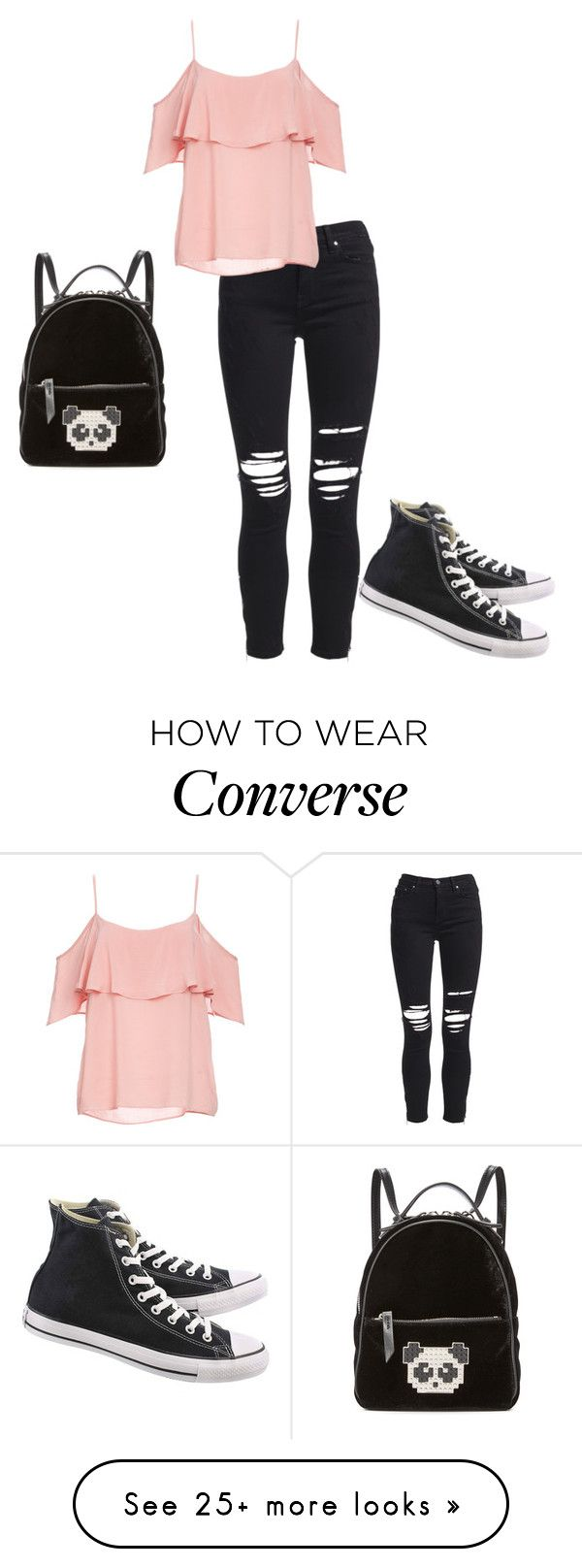 """""""Faith at school"""" by crystalrose-014 on Polyvore featuring AMIRI, BB Dakota, Les Petits Joueurs and Converse"""