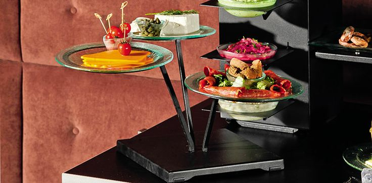 Bowl buffet risers