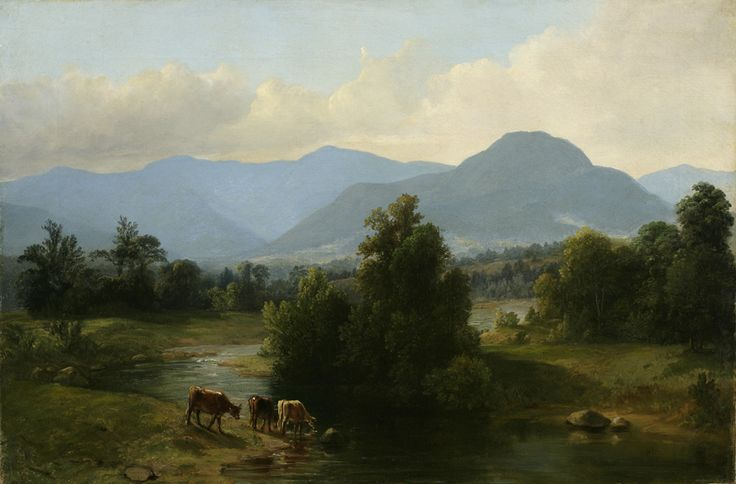 Asher Brown Durand, View of the Shandaken Mountains, New York, 1853.  Oil on linen.  Gift of Nora Durand Woodman.  NYHS Object Number 1932.21.