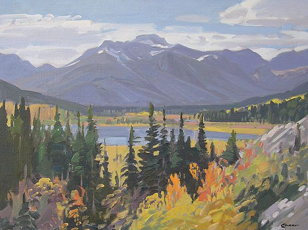 Mount Bourgeau in Autumn, West of Banff18x24 inchesMountains painting by Peter Ewart