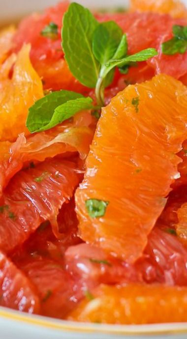 Citrus Salad with Mint, Honey, and Lime