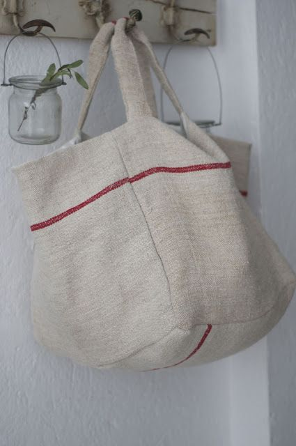 bag from vintage linen