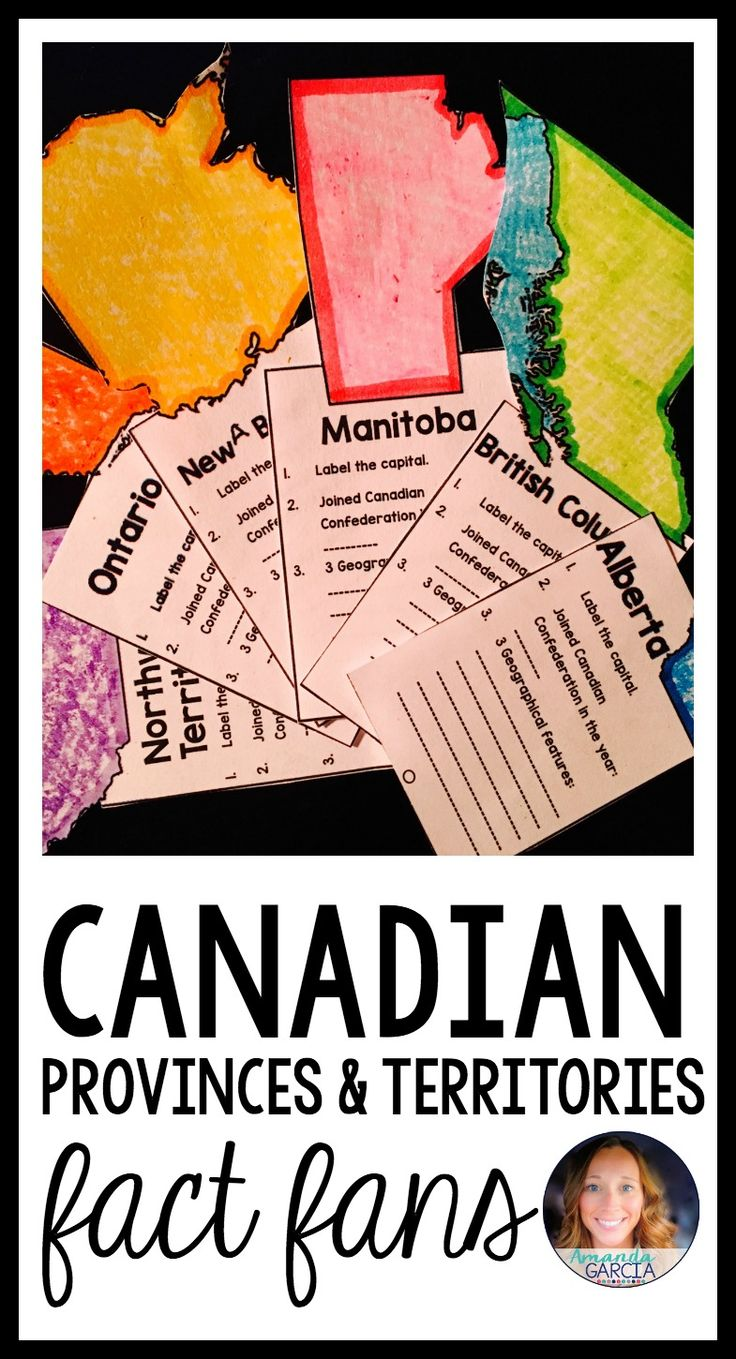 Fun interactive activities just for kids! Students study the geography of Canada, including the capitals and year each province and territory joined the Confederation. They color, cut, and construct their own fact fans!