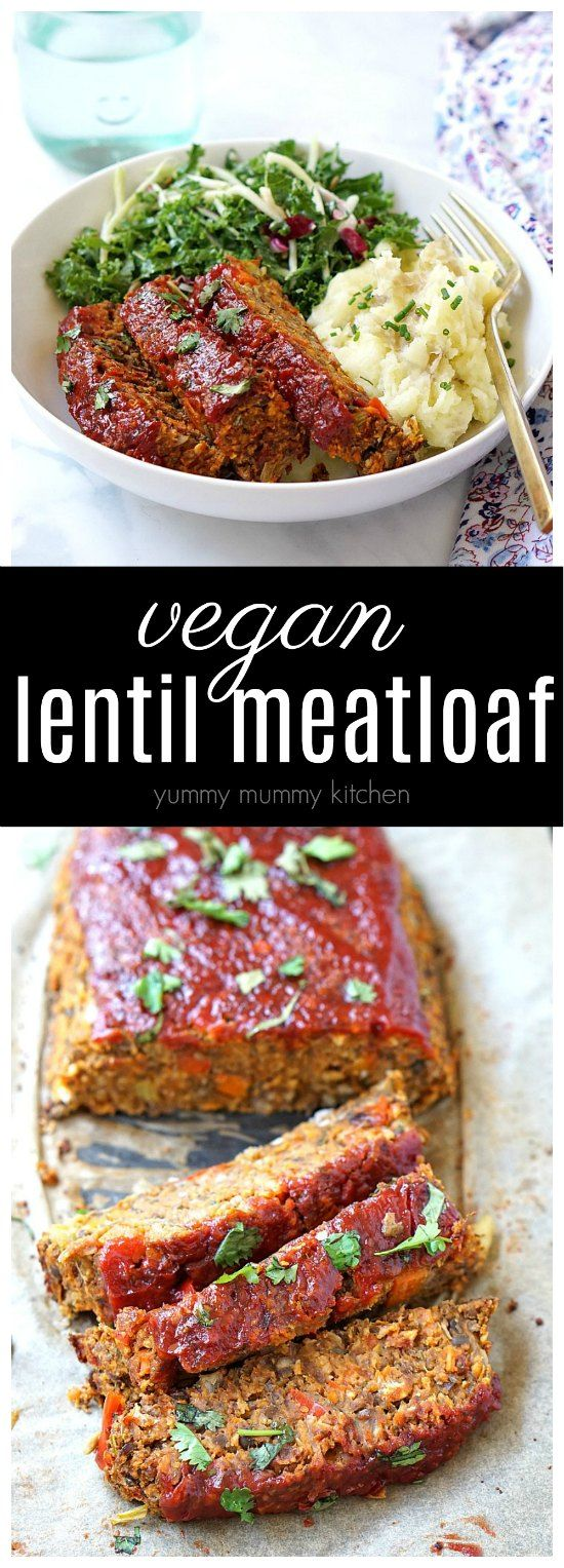 Delicious and easy vegan meatloaf made with lentils, mushrooms, and veggies. This lentil loaf makes a hearty vegan dinner that is tasty enough for Thanksgiving, but easy enough for weeknight dinners.