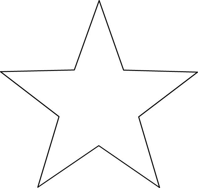 Dessin à imprimer, une étoile à 5 branches