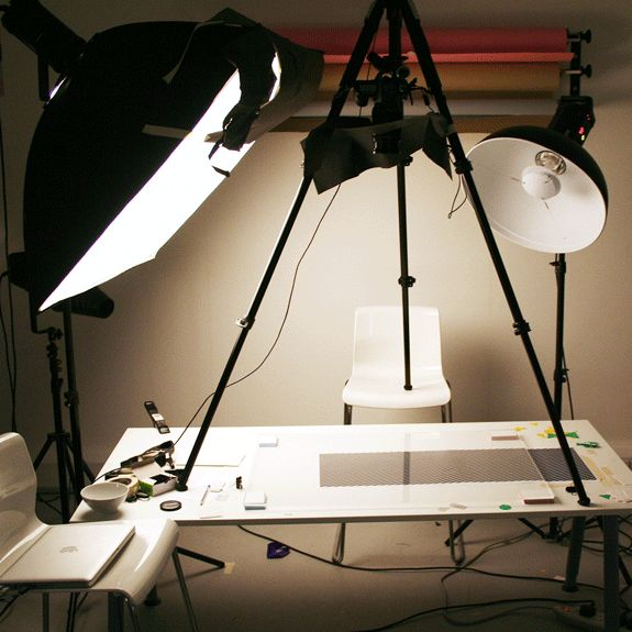 Professional lighting is tricky business. We have to get the angles *just right* on the paper to get the right depth.