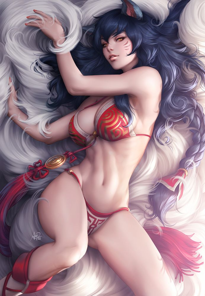Ahri's Tease by Artgerm on deviantART