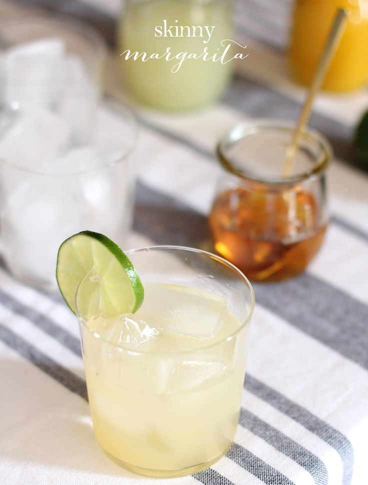 """Get the skinny on the best skinny margarita recipe - it's all natural & all delicious at just 160 calories! You'll never believe the """"secret"""" ingredient!"""