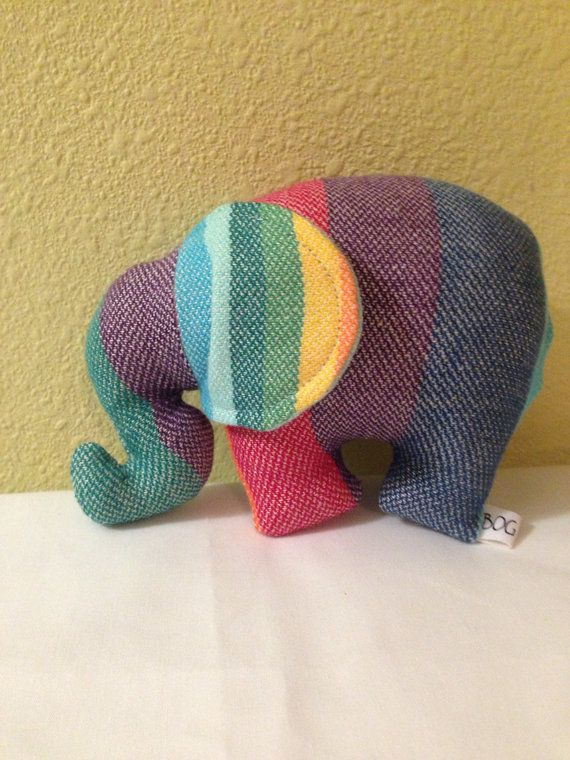 Girasol Double Rainbow wrap scrap Elephant Lovey