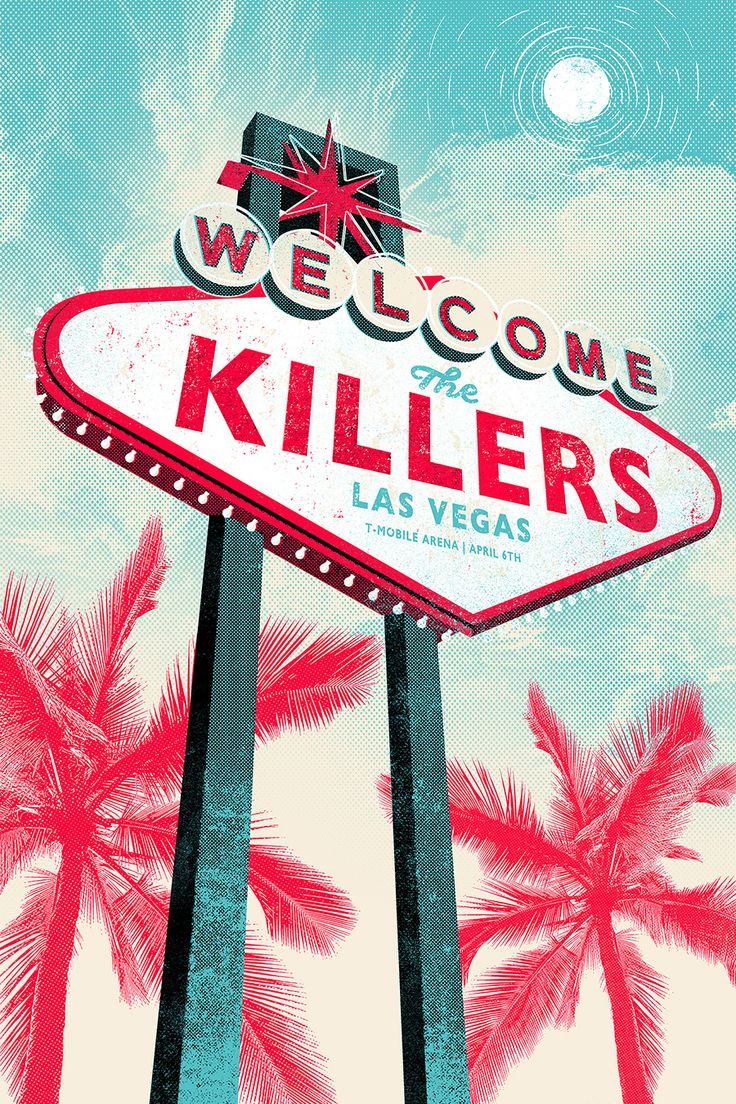 #TheKillers #LasVegas The Killers - Gigposter 2016