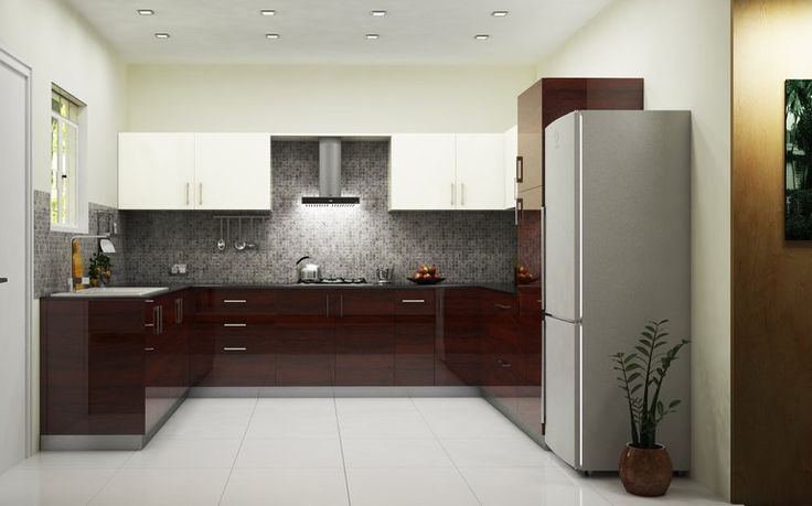 Phoenix Royal U-Shaped Kitchen | Dark wood. Cozy and ultra comfortable feel. Royalty.