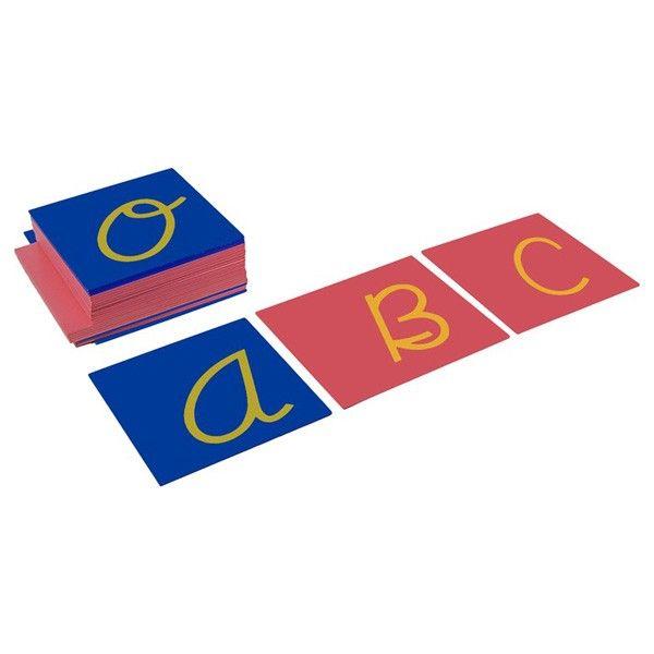 Capital Case Sandpaper Letters - Cursive | KidAdvance.com