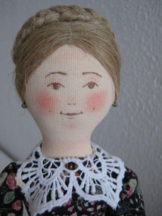 Авторская текстильная кукла Сударушка от TinaVanDijk на Etsy