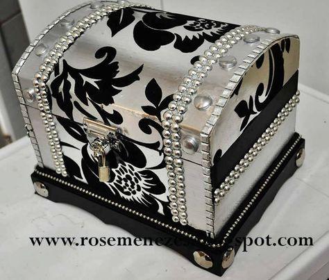 Apostila de pintura Decorativa Rose Menezes: Kit Baú Silver