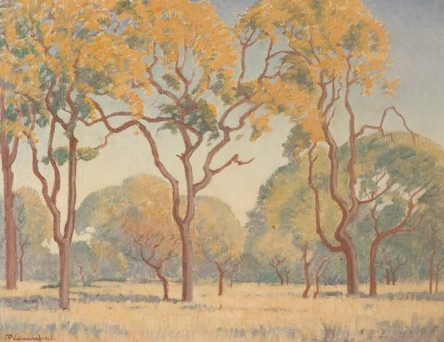 Jacob Hendrik Pierneef (South African, 1886-1957) Trees in the veld
