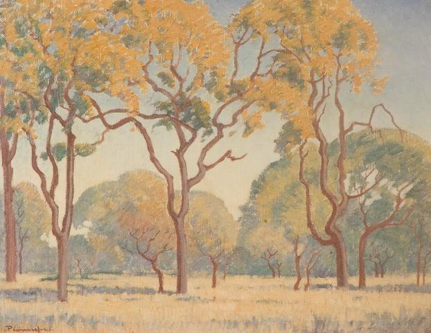Jacob Hendrik Pierneef (South African, 1886-1957) Trees in the veld