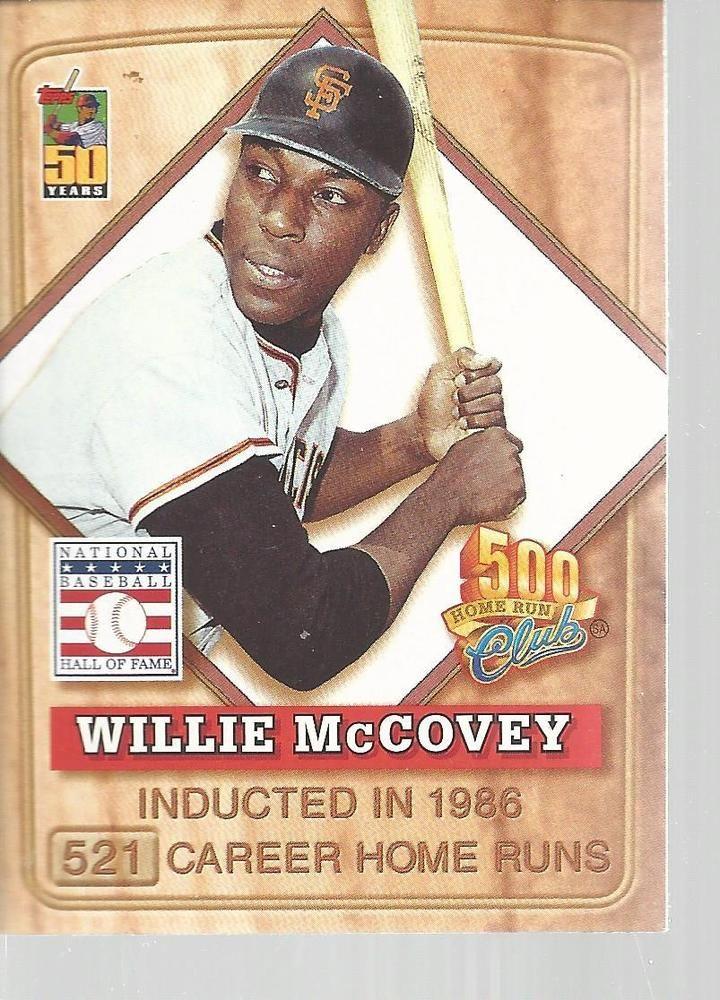 Willie McCovey Baseball Post 500 Home Run Club Topps 2001 #4 Of 8 SF Giants  #sfgiants #SanFranciscoGiants