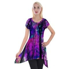 Magic Forest Short Sleeve Side Drop Tunic