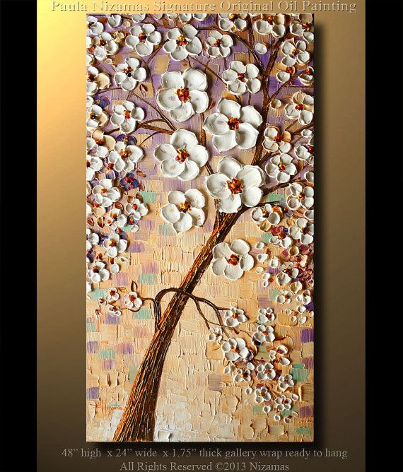 1000 images about cheery cherry blossoms on pinterest for Canvas painting of cherry blossoms