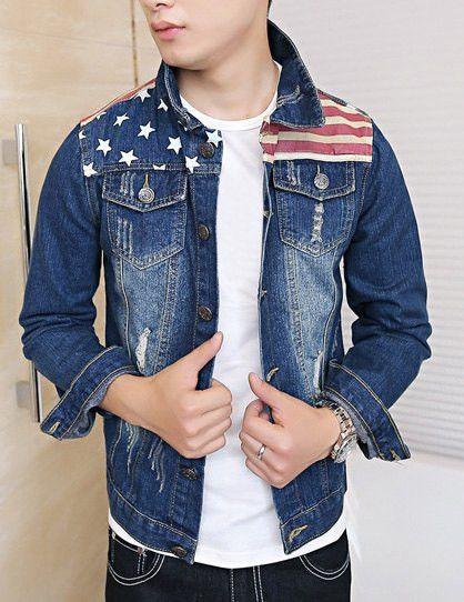 Stars and stripes denim jacket