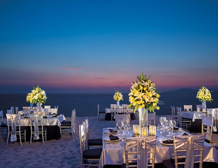 Pair Elegant Decor With The Stunning Backdrop Of Ocean For Your Dream Destination Wedding Reception At Secrets Vallarta Bay Puerto