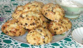 Raisin Scones.  This recipe looks fairly easy to make on a slow weekend.