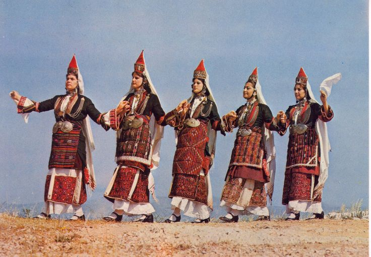 Traditional folk costumes from Episkopi Imathias Macedonia Greece.