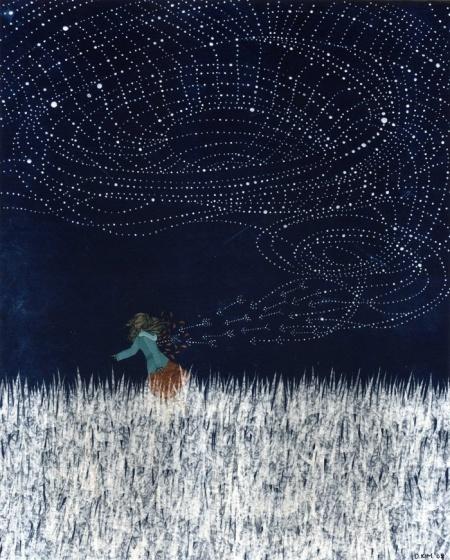 The Stars are Against Me Tonight - Dan ah Kim: Paintings Art, Make Art, And Ah Kim, Art Paintings, Fashion Models, Starry Night, Night Time, Danah Needle, Paper Planes