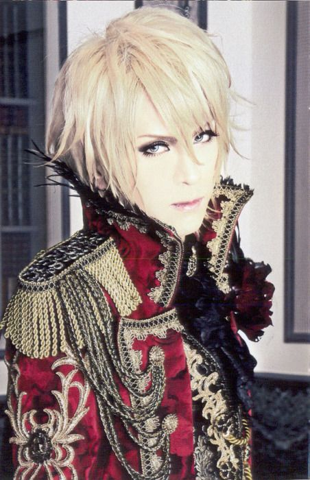 Kamijo, lead singer of 'Versailles'. (Known as 'Versailles - Philharmonic Quintet' - in the United States). They are a Japanese visual kei metal band formed in 2007.